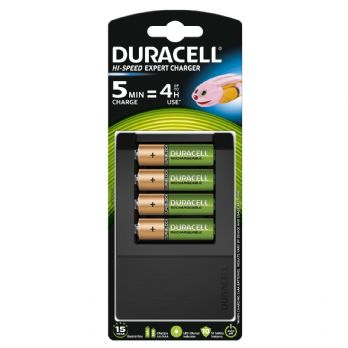 Duracell 15 minute Battery Charger with 4 AA Rechargeable Batteries